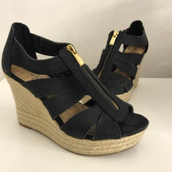 5907a8400 Shoes | Black Summer Wedges | Poshmark